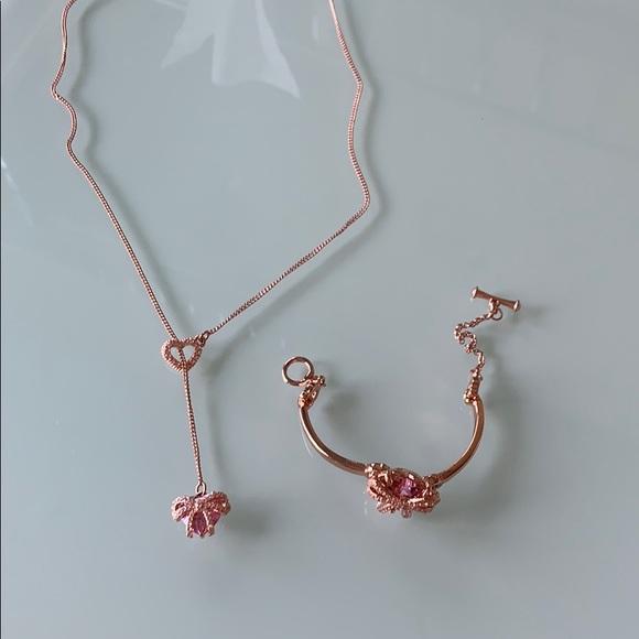 Heart Betsy Johnson Bracelet and Necklace